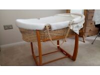 Mammas and Pappas Moses Basket with rocking stand
