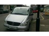 2010 2x Mercedes-Benz Vitos Extra Long automatic 8 seaters and 9 seater, Pco registered