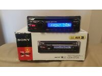 CAR HEAD UNIT SONY CD MP3 PLAYER WITH AUX AND RCA PRE OUT 4 x 45 WATT STEREO AMPLIFIER AMP