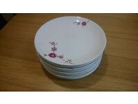 12 Brand New plates, White