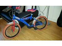 Childs spider man bike