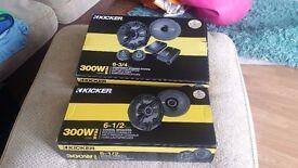 """kicker CS65 300W 6.5"""" Coaxial Speakers"""