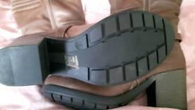Ladies knee length Brown boots