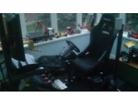Ps3 logitech rig for sale drive force gt on a wooden base carpeted