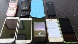 8X MOBILE PHONES SPARES OR REPAIR