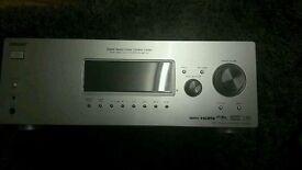 A Sony Surround sound av reciever in silver .. 5.1 surround sound
