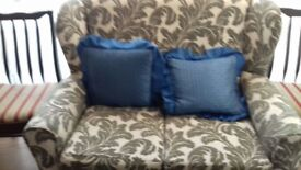 Excellent condition 2 seater and two 1 seater sofa