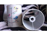 a pair of chirping birds light shades for kids room nursery
