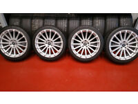 Ford RS 18 alloy wheels + 4 x tyres 225 40 18