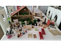 Sylvanian Families Bundle House Tree House Furniture Plus Families & Much More £45 ono