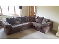 DFS BROWN CORNER SOFA - EXCELLENT CONDITION - FROM PET & SMOKE FREE HOME IN HOLBEACH - 9ft 2 x 7ft