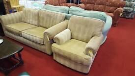Sofa 3 seat 1 x Armchair