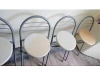 Unused Folding Bar stools