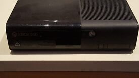 xbox 360 with kinect, games and 2 controllers