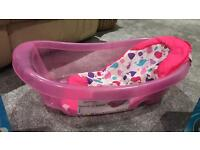 Baby bath...cot mobile and toys