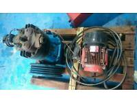 Compair pump and 3ph motor set