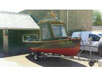 Fishing boat fibreglass.18ft with trailer