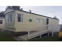 8 berth caravan for hire on presthaven sands