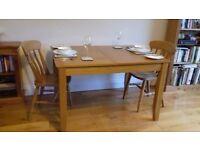 John Lewis, Oak Dinning Table (90cm x 120cm)