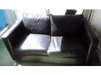 2 seater leather sofa - sofa bed