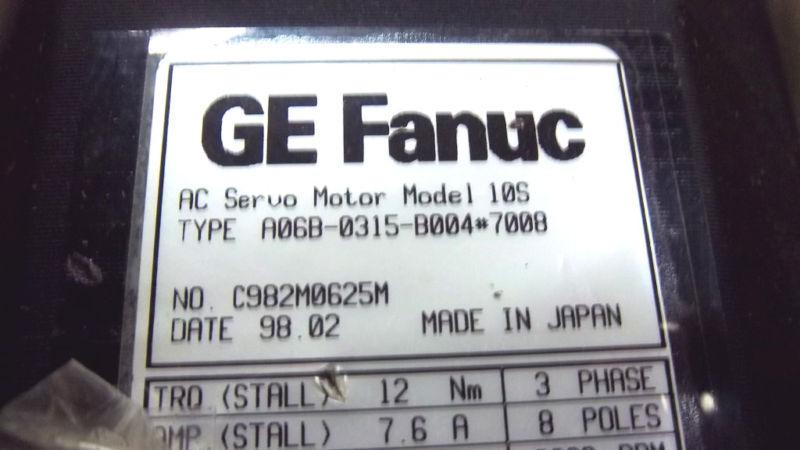 GE FANUC A06B-0315-B004#7008 NEW A06B0315B0047008
