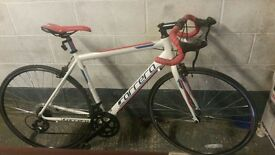 Carrera karkinos road bike great condition, rides smoothly, few scratches on handlebar nothing major