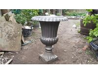 Two cast urns