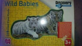 Discovery channel's wild babies giant floor puzzle 24 pieces