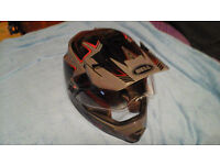 Bell on/off road full face helmet with removable peak