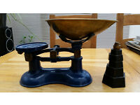 Vintage Frederick Hill of Birmingham Weighing Scales with Weights