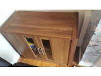 Wood Tv unit and side cabinet