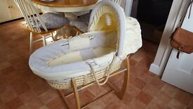 Mamas and Papas Meadow moses basket and stand