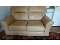 Beautiful G Plan Leather Sofa plus matching Chair and Footstool