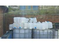 Free 20ltr containers