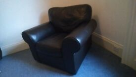 Real leather armchair