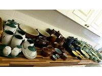 Vintage Denby collection - Cottage Blue, Homestead Brown, Manor Green, Wheatsheaf