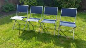 Navy blue garden patio chairs