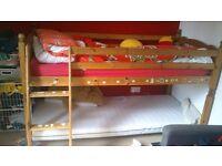 Single Pine framed cabin bed (frame only)