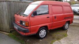 Toyota litace panel van - classic van - camper project