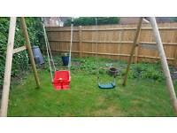 Double children's swing set