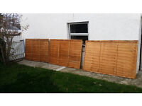 Three Frence panels 4x6 ft
