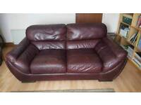 2 Seater Leather Sofa (Free Local Delivery)