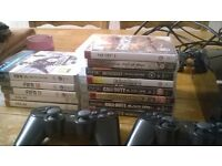 ps3 32gb with pads and games