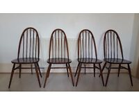 Set of 4 Original Vintage Ercol Dining Chairs