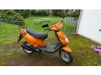 50cc tgb scooter in good over all condition v5 etc 2 stroke low milage