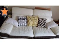 DFS leather sofa in good used condition, smoke,pet free home