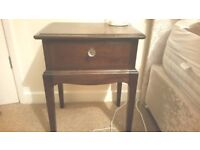 Set of two good quality stag bedside tables with crystal drawer knobs