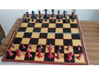 Pre 1930's Cast Lead Chess set