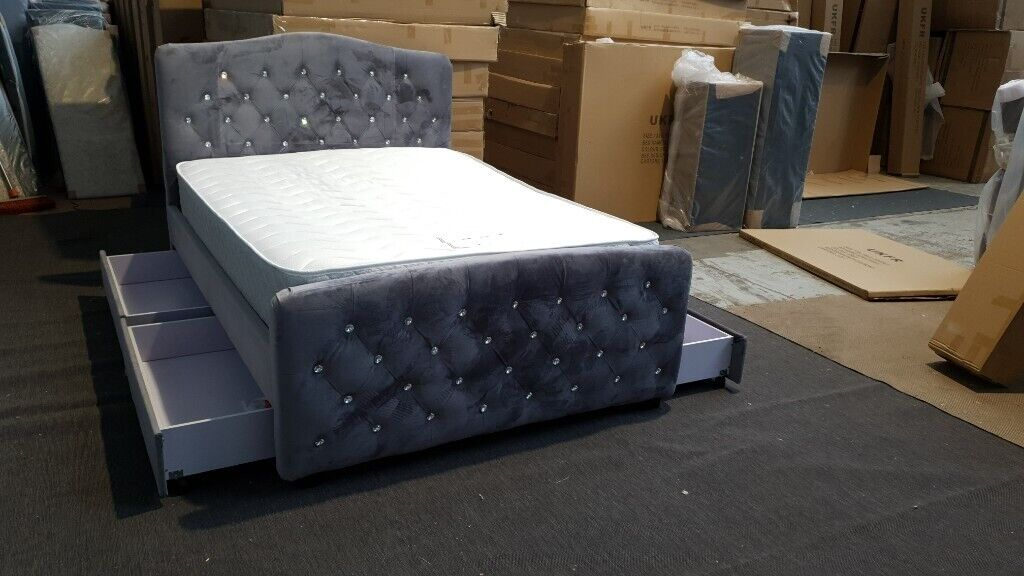 Chesterfield Design Stylish 4 Drawer Storage Bed Frame Double King In East End Glasgow Gumtree