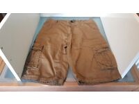 2 pairs of GUKKA Men's Casual Summer Combat Cargo Shorts. Size 34. New and unused.